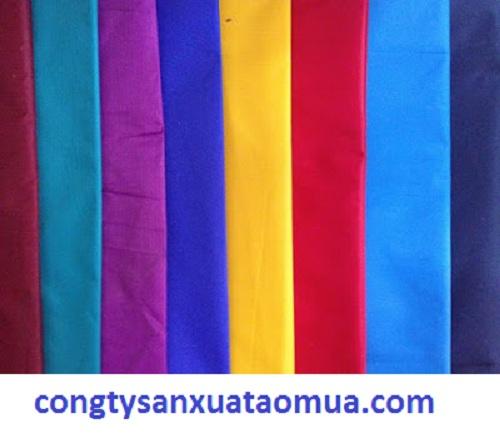 bảng màu áo mưa quảng cáo, chất liệu màu sắc dùng trong sản xuất áo mưa quảng cáo, áo mưa quà tặng, áo mưa cánh dơi, áo mưa bộ