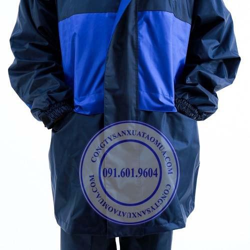 cơ sở sản xuất áo mưa bộ cao cấp tại hà nôi, xưởng may áo mưa bộ vải dù cao cấp, áo mưa bộ quà tặng quảng cáo