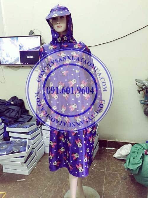 công ty sản xuất áo mưa quà tặng tại hà nội, nhận đặt làm áo mưa quà tặng quảng cáo