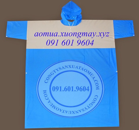 công ty sản xuất áo mưa quảng cáo. xưởng chuyên máy áo mưa, in thêu logo áo mưa quảng cáo