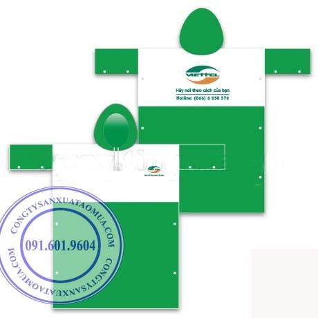 Cơ sở sản xuất áo mưa quảng cáo giá rẻ tại hà nội, xưởng chuyên may áo mưa quảng cáo in thêu logo công ty, thương hiệu