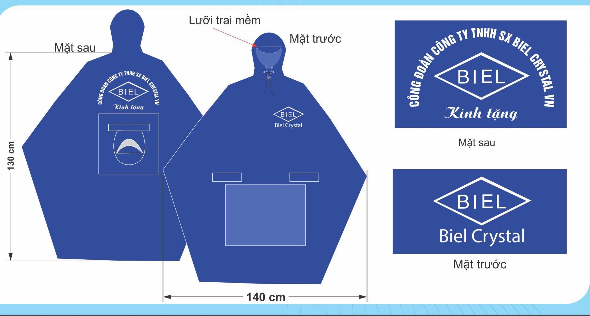 Nhận may áo mưa quà tặng in logo