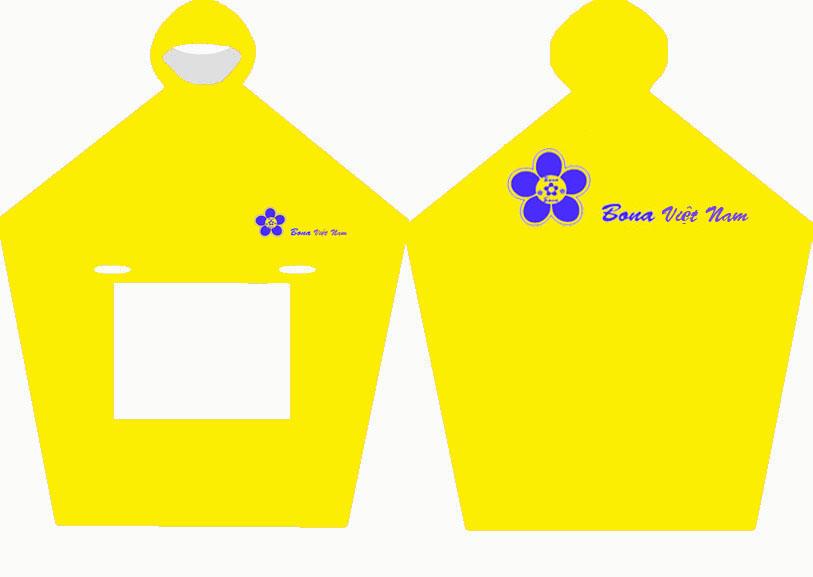áo mưa vải dù màu vàng