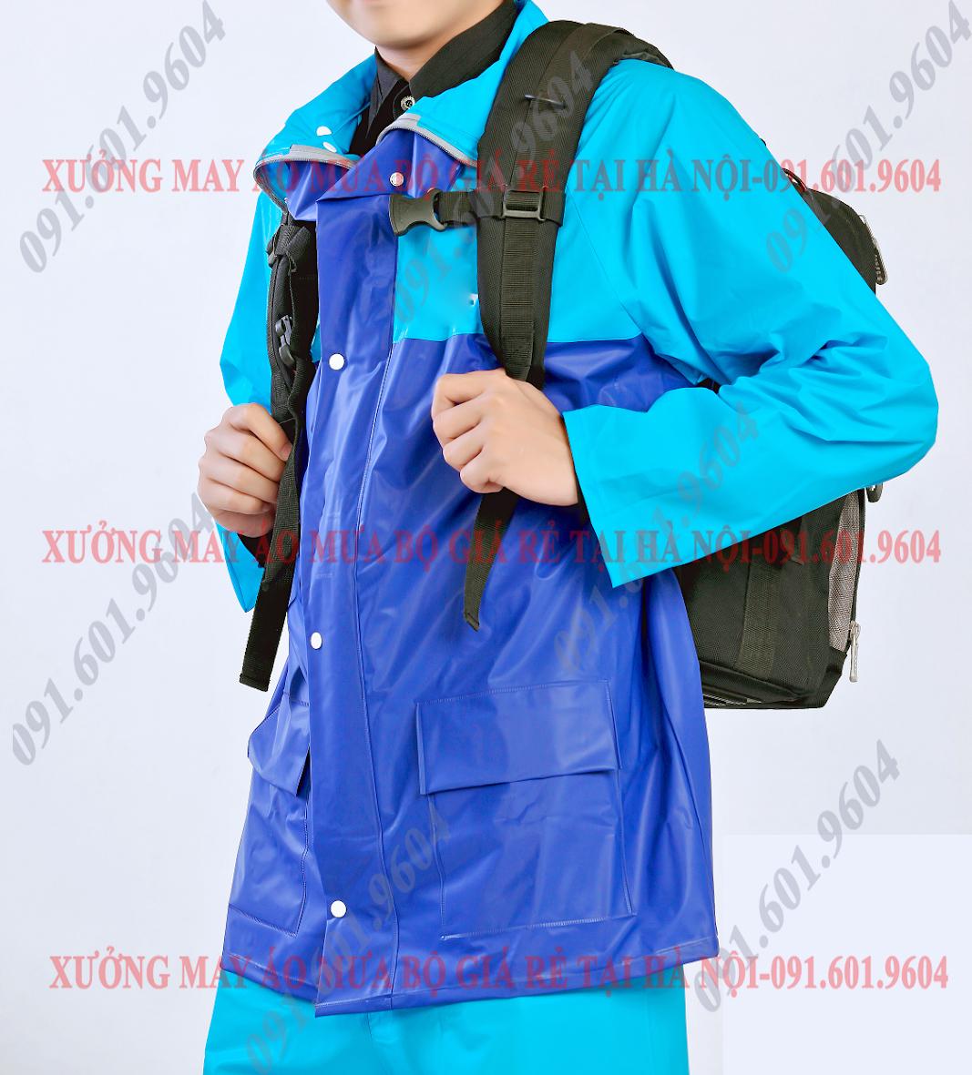áo mưa nhựa dán haida in logo công ty