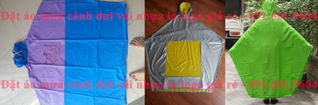 áo mưa cánh dơi vải nhựa PVC