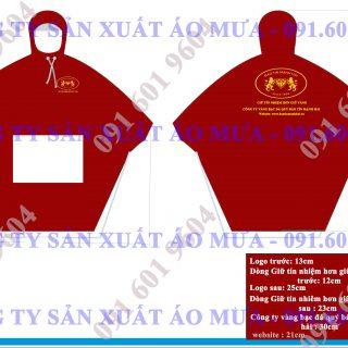 Thiết kế áo mưa cánh dơi in logo