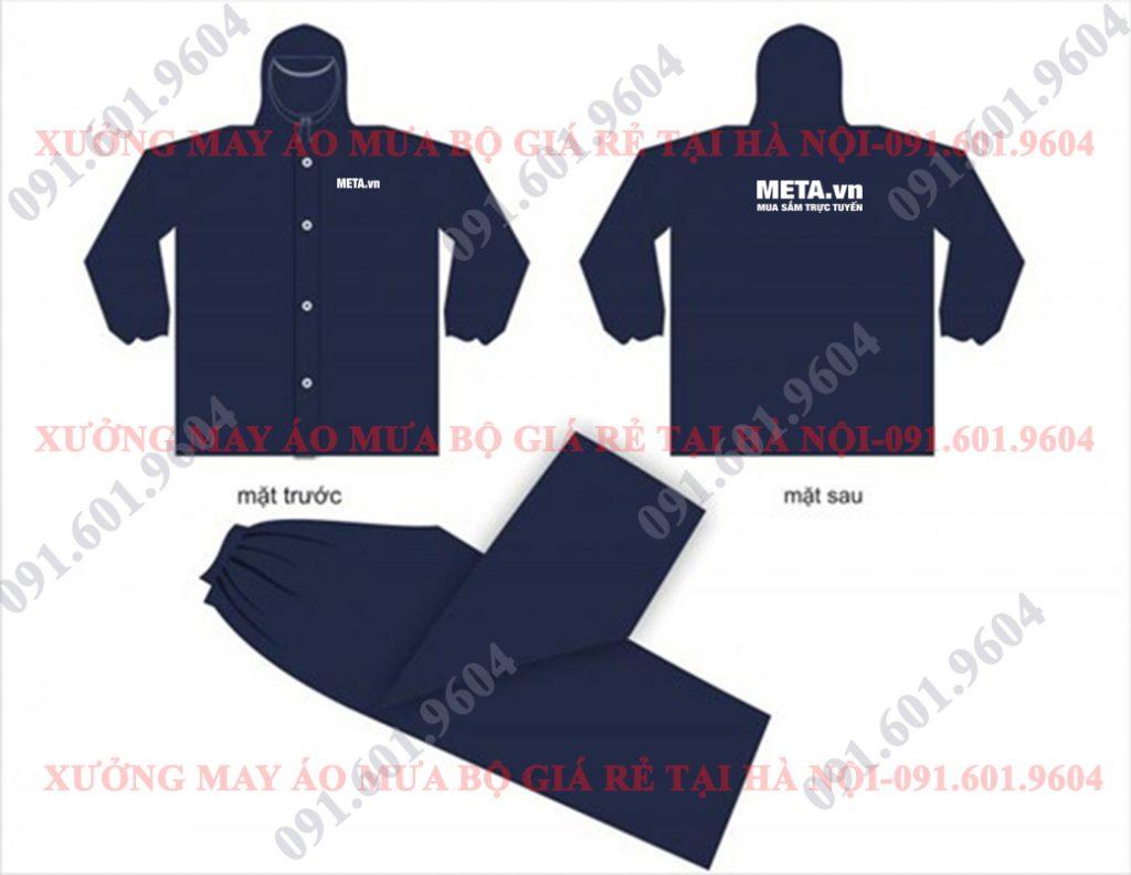 Thiết kế áo mưa bộ META