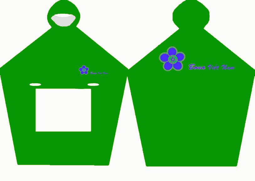 áo mưa quà tặng công ty Bona apparel