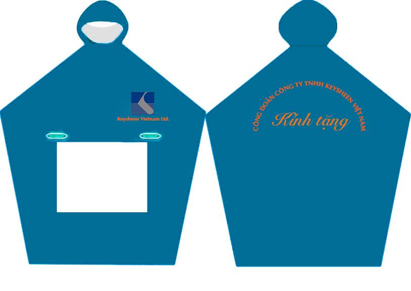 áo mưa quà tặng công ty Keysheen
