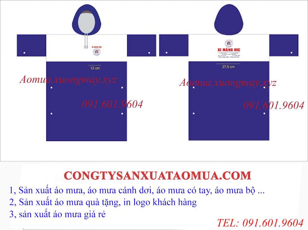 Sản xuất áo mưa in logo khách hàng