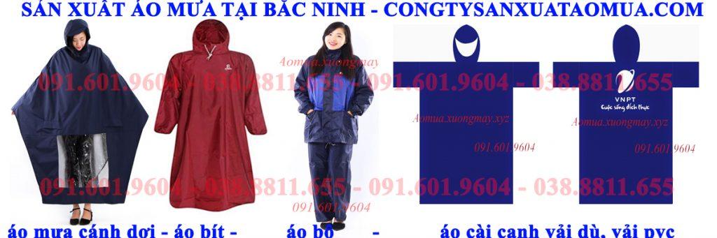 Xwngr sản xuất áo mưa tại Bắc NInh nhận sản xuất áo mưa theo hợp đồng, chuyển hàng toàn quốc.