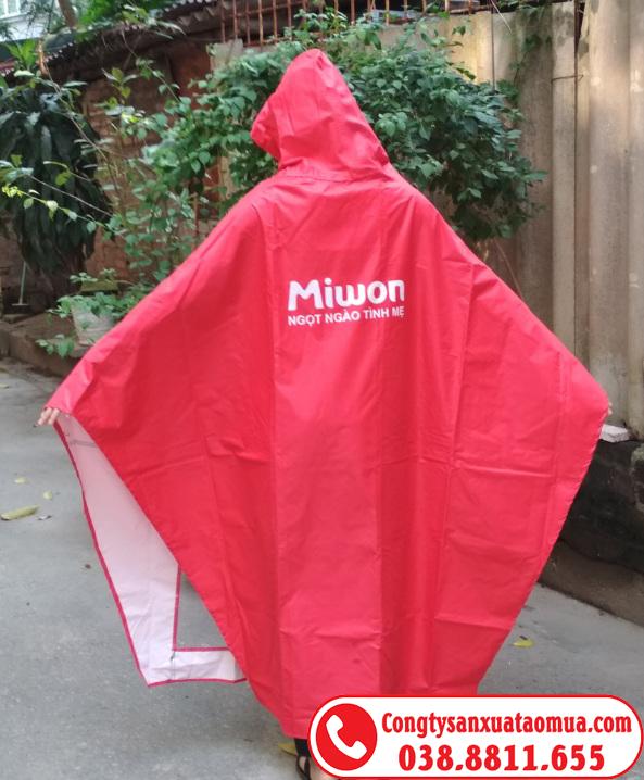 áo mưa quà tặng của miwon