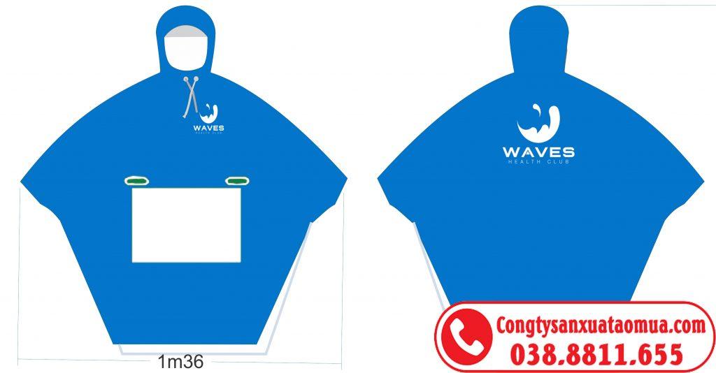 áo mưa cánh dơi màu xanh ngọc vải PVC Rạng Đông 0.17