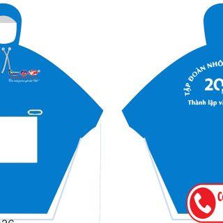may áo mưa quà tặng công nhân viên và khách hàng nhân dịp thành lập công ty