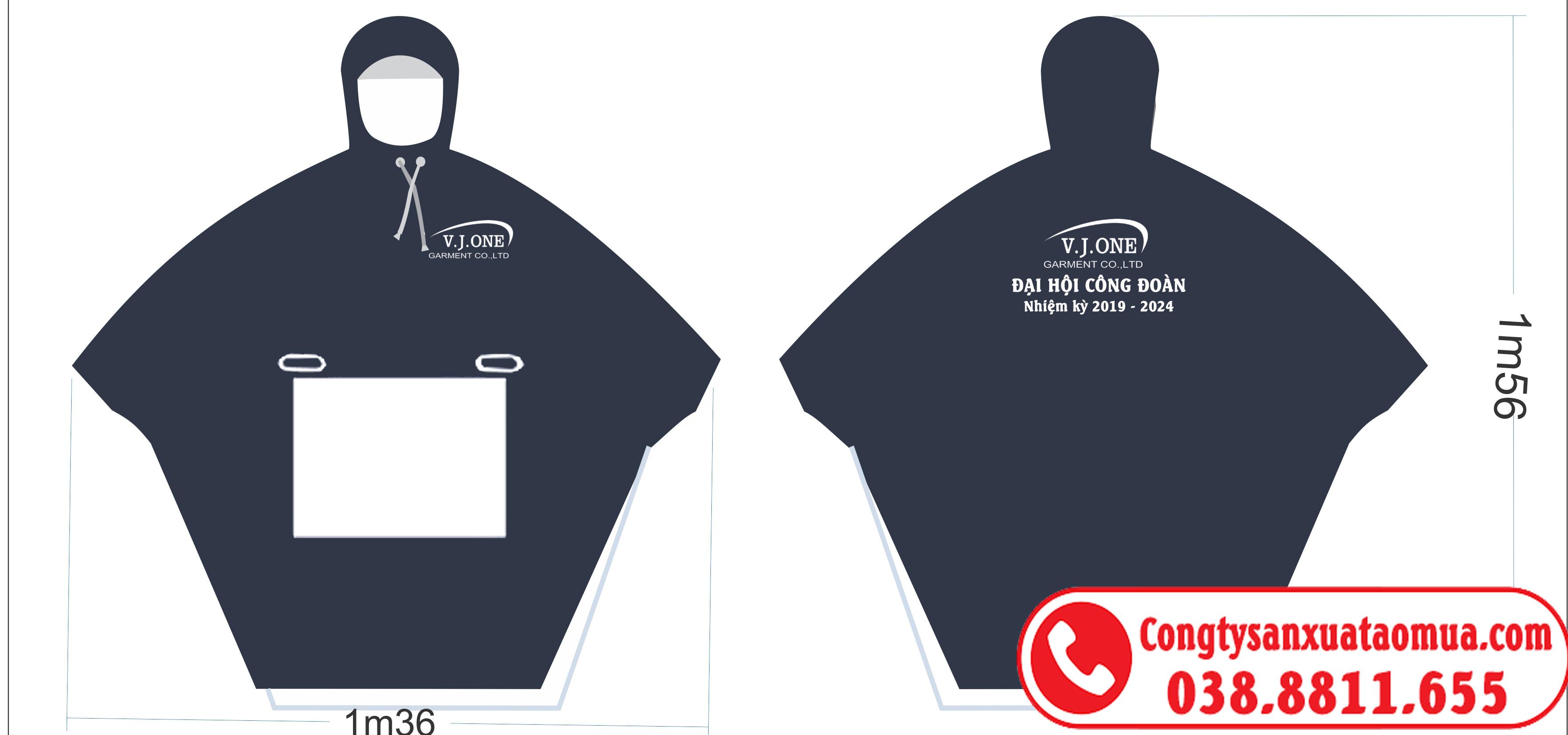 Sản xuất áo mưa cánh dơi quà tặng in logo công ty, công đoàn