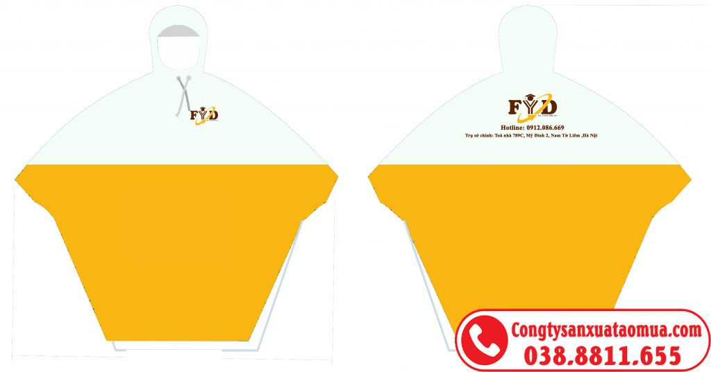 Mẫu áo mưa nhựa PVC giá rẻ của FID sản xuất tại xưởng Hưng Yên