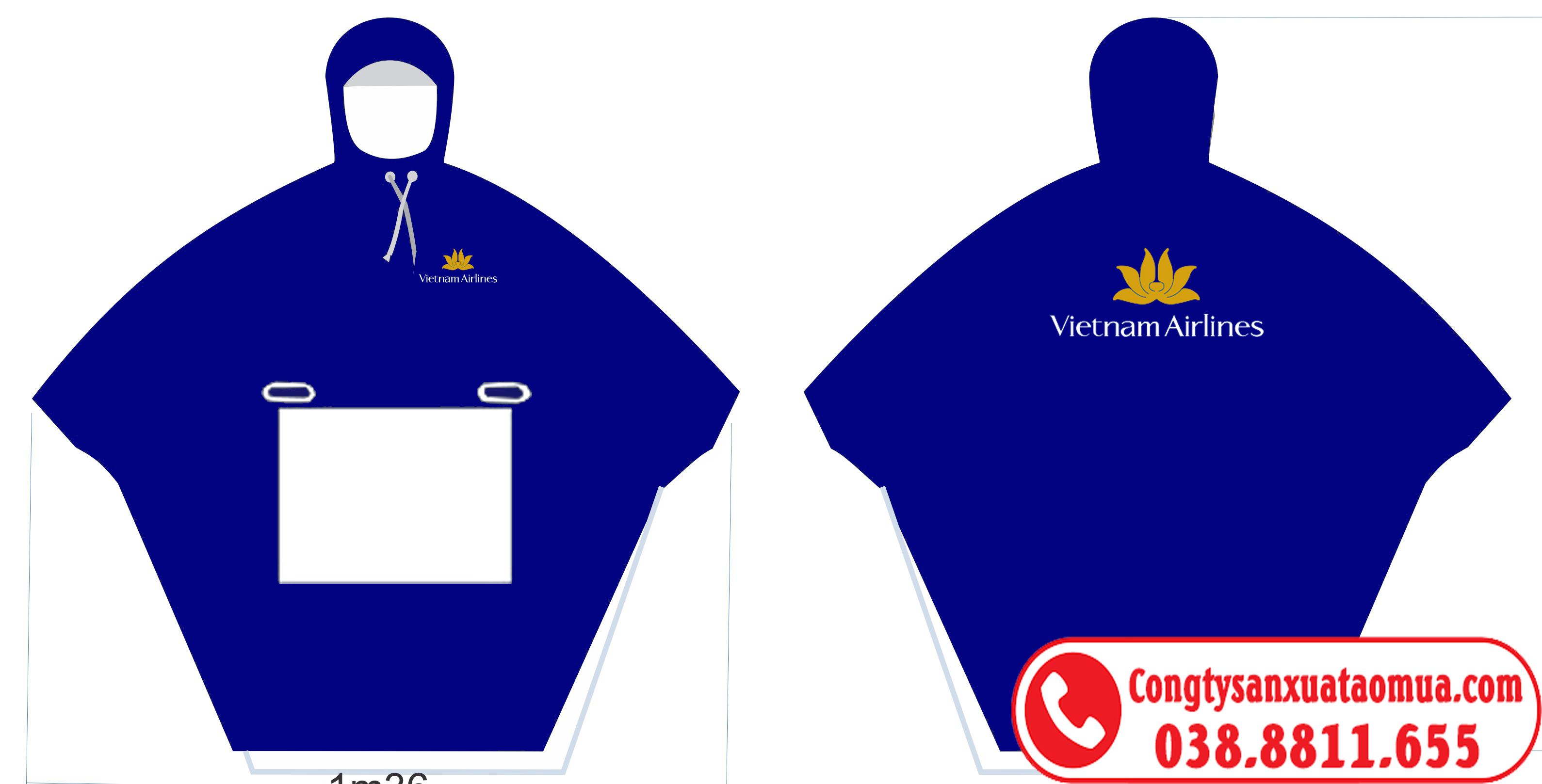 Thiết kế áo mưa quà tặng in logo khách hàng