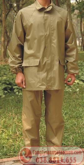 áo mưa bộ quân nhu màu cỏ úa