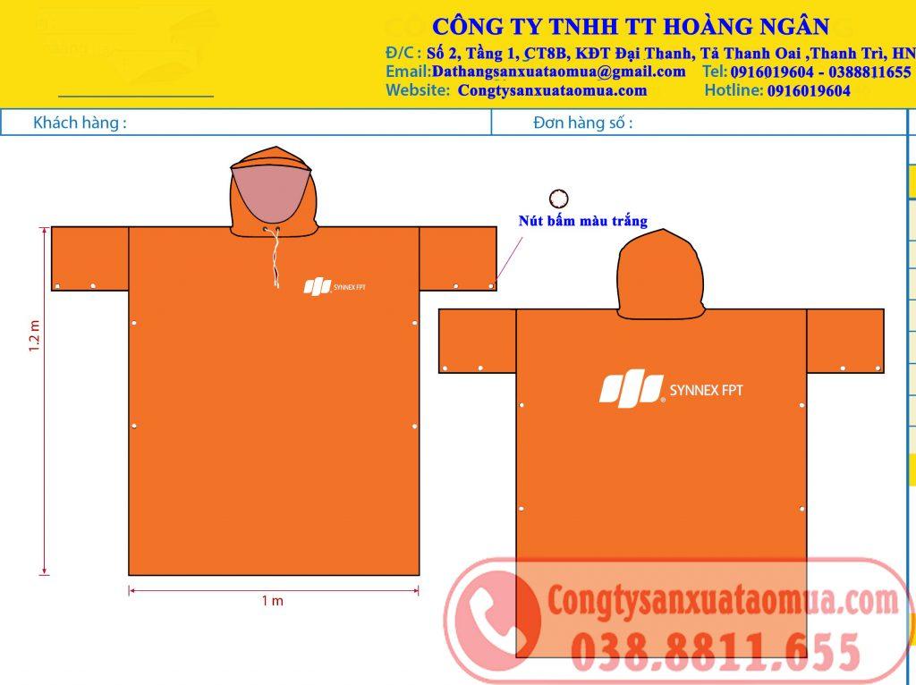 áo mưa quà tặng in logo FPT