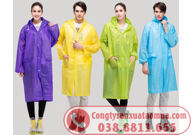 sản xuất áo mưa dáng bít, măng tô