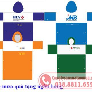 Sản xuất áo mưa quà tặng ngân hàng giá rẻ
