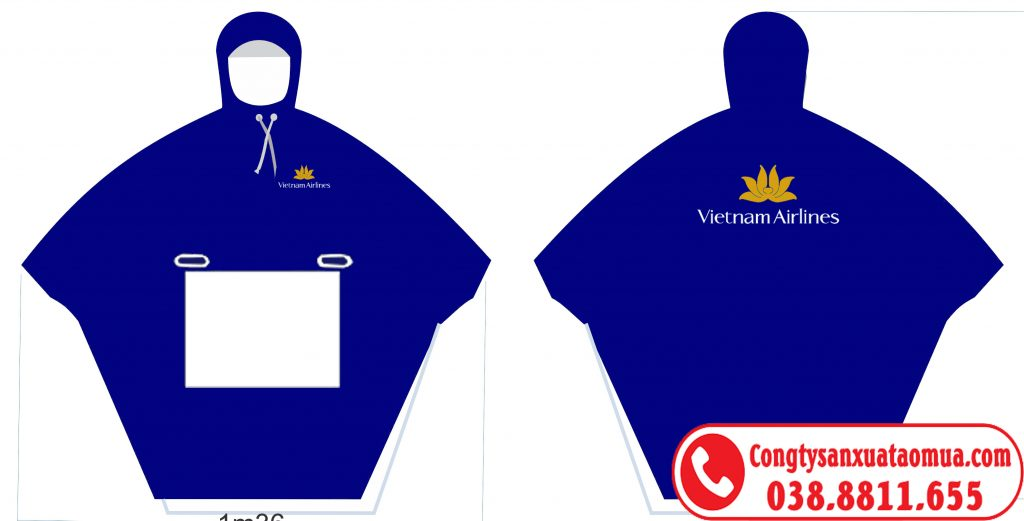 áo mưa cánh dơi quà tặng in logo Vietnam Airlines