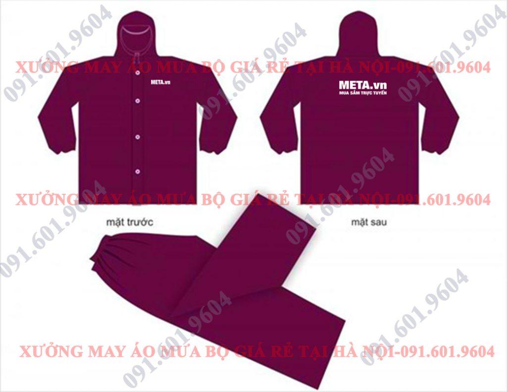 Thiết kế in và sản xuất áo mưa bộ quà tặng