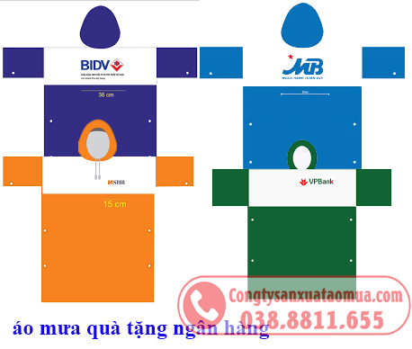 áo mưa nhựa quà tặng có giá rẻ chỉ từ 20,000đ/ chiếc.