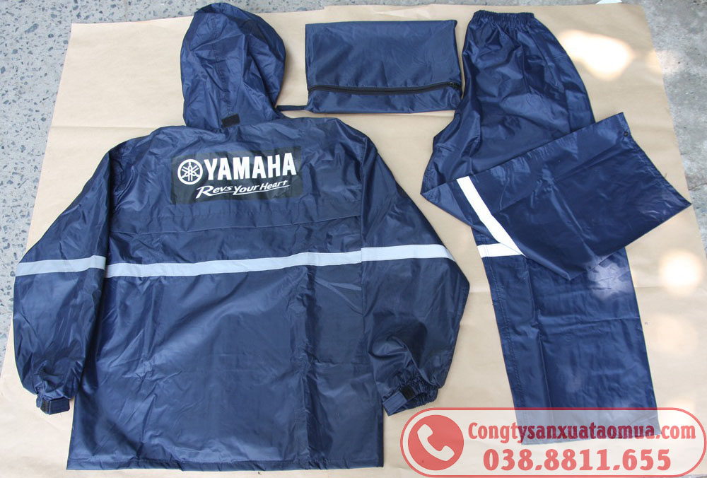 áo mưa bộ phản quang quà tặng công nhân viên công ty YAMAHA Việt Nam