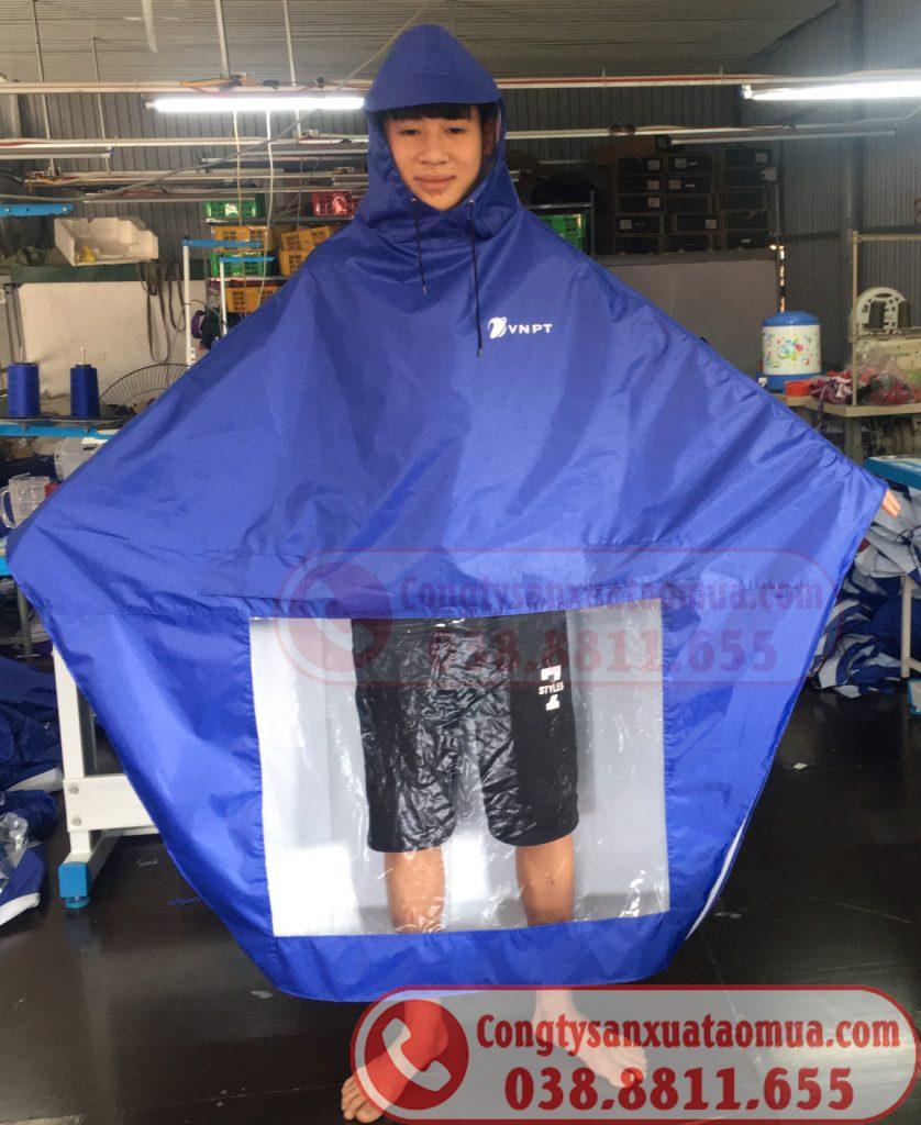 Áo mưa cánh dơi vải dù pu quà tặng