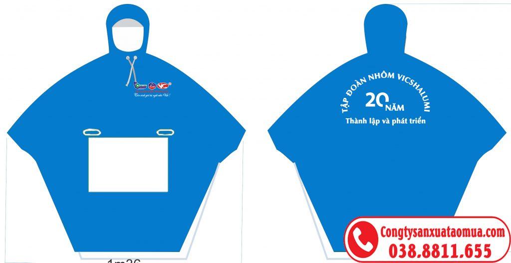 Áo mưa quà tặng in logo công ty, công đoàn