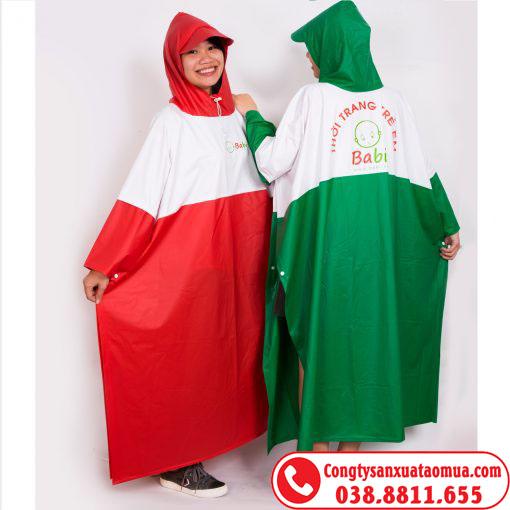 Đặt may áo mưa tặng công nhân dịp lễ tết