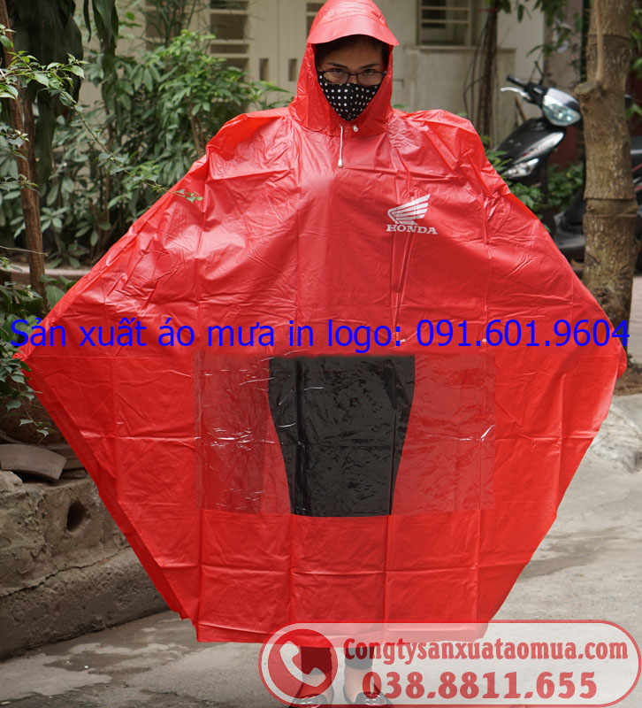 Xưởng sản xuất áo mưa in logo