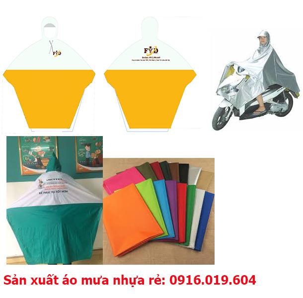 Xưởng sản xuất áo mưa nhựa rẻ