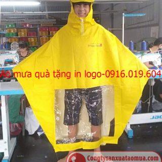Sản xuất áo mưa quảng cáo in logo