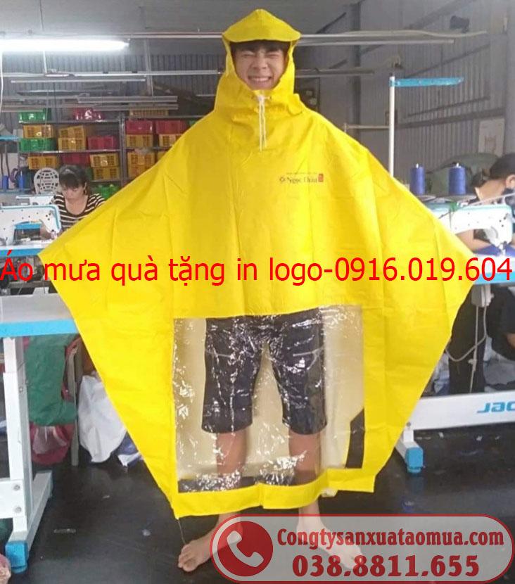 Địa chỉ sản xuất áo mưa quà tặng in logo