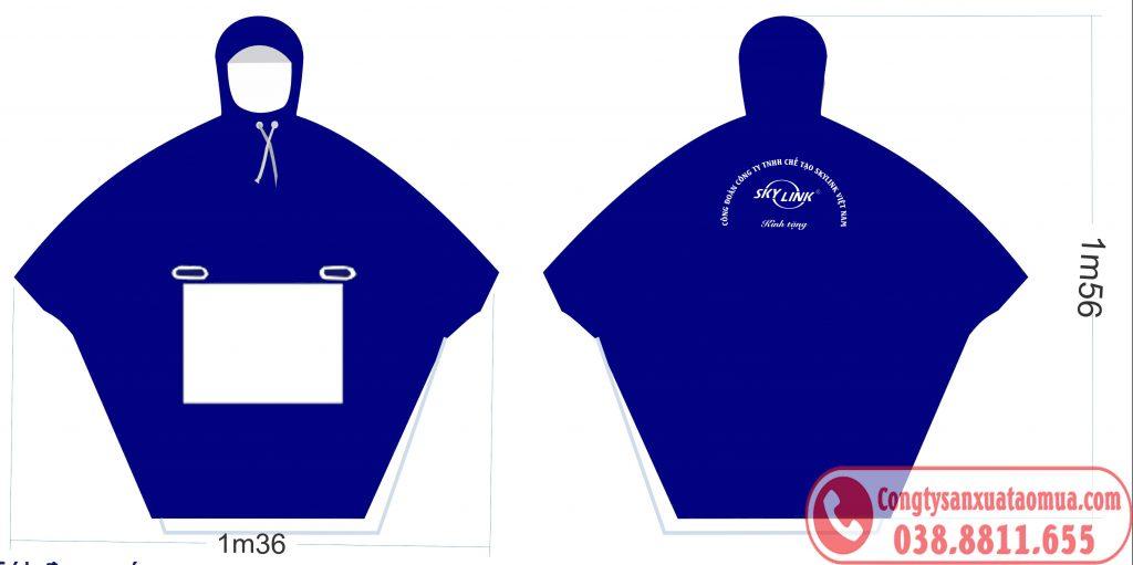 Sản xuất áo mưa quà tặng công nhân viên ngày 8-3