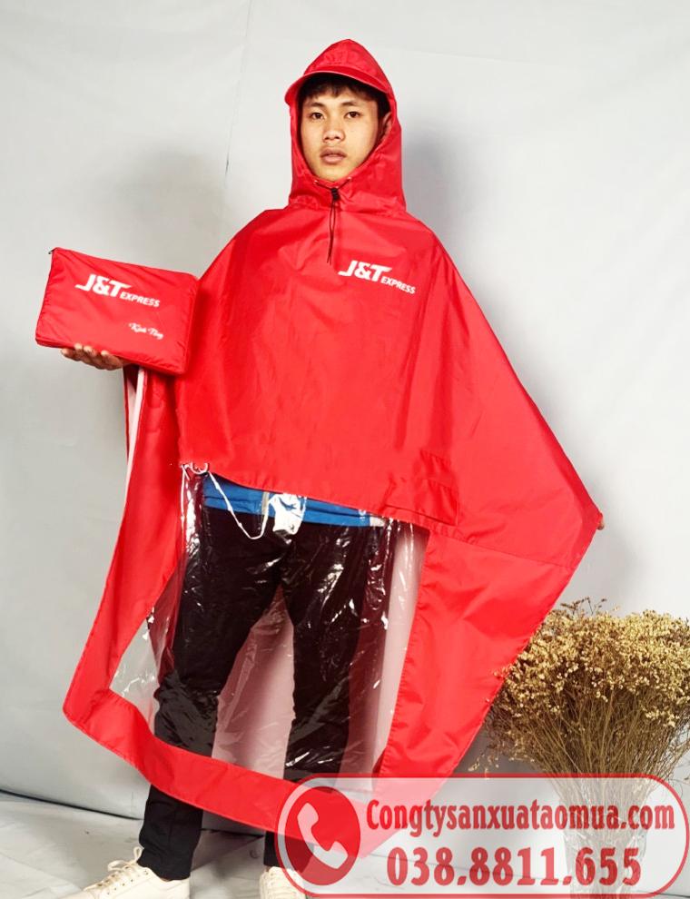 Áo mưa cánh dơi vải dù in logo thương hiệu