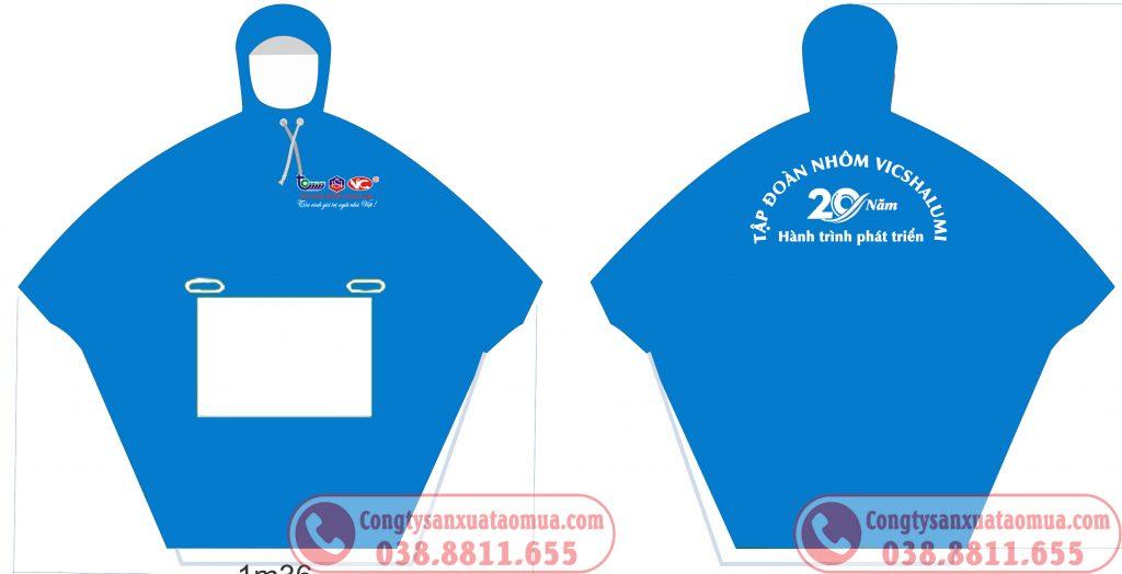 Sản xuất áo mưa quà tặng in logo công ty