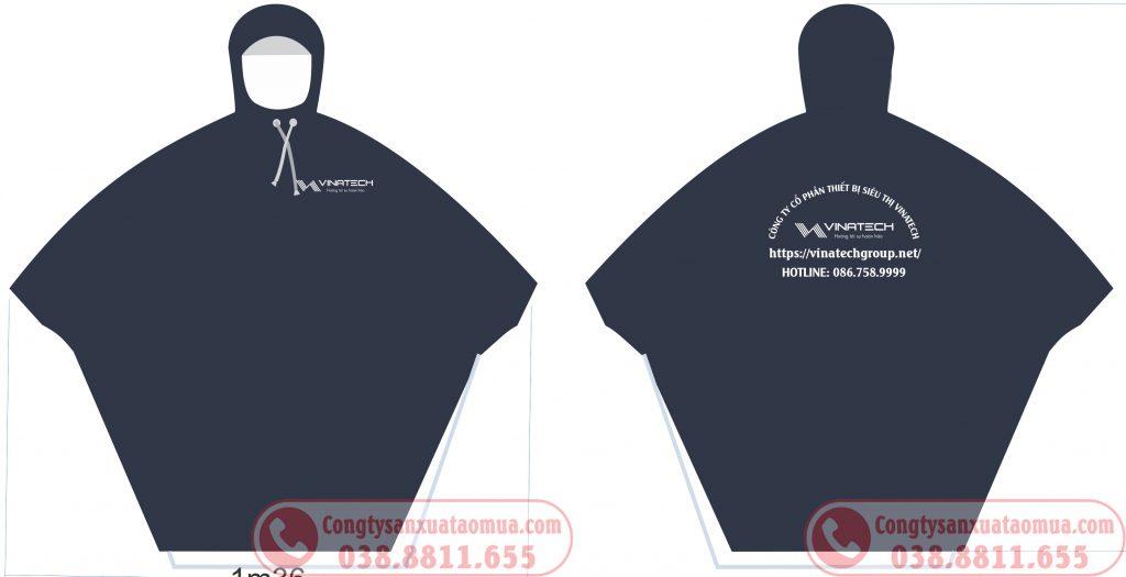 Sản xuất áo mưa in logo công ty Vinatech