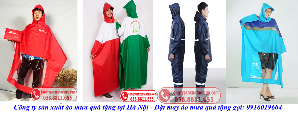 Sản xuất áo mưa quà tặng tại Hà Nội
