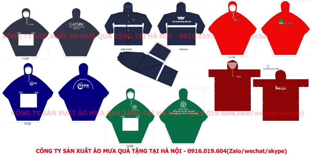 Công ty sản xuất áo mưa quảng cáo