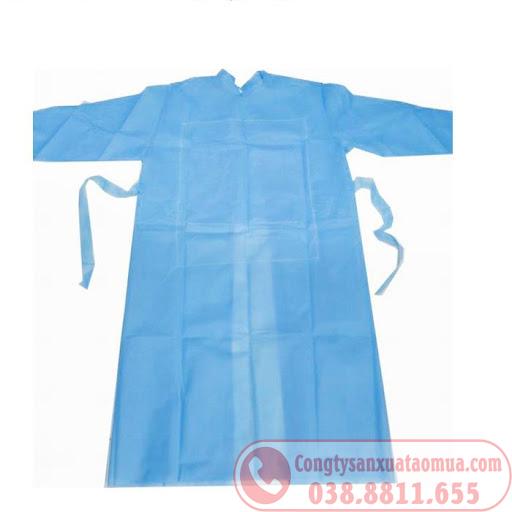 sản xuất áo mưa y tế bằng chất liệu PE