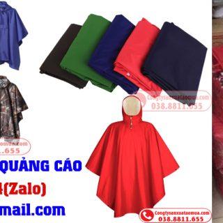 Xưởng sản xuất áo mưa quảng cáo