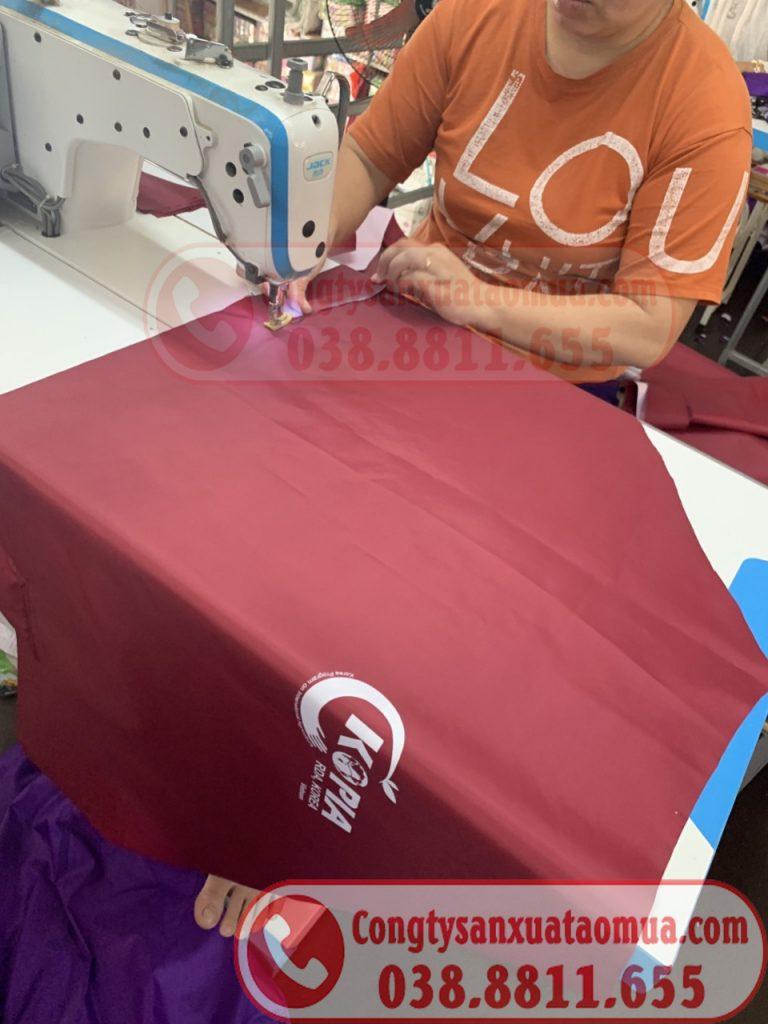 Xưởng sản xuất áo mưa quà tặng in logo