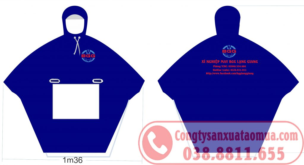 Sản xuất áo mưa quà tặng cho xí nghiệp may BGG Lạng Giang