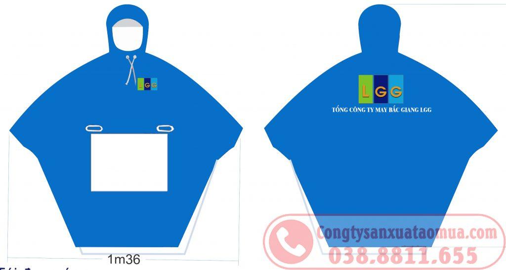 Sản xuất áo mưa quà tặng công đoàn công ty LGG Bắc Giang