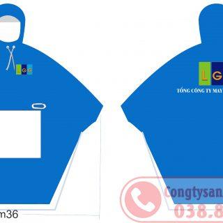 Sản xuất áo mưa quà tặng công đoàn công ty may bắc giang lgg