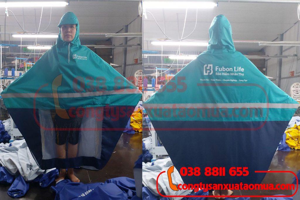 Công ty sản xuất áo mưa in logo, áo mưa gắn phản quang, phối màu lên áo mưa