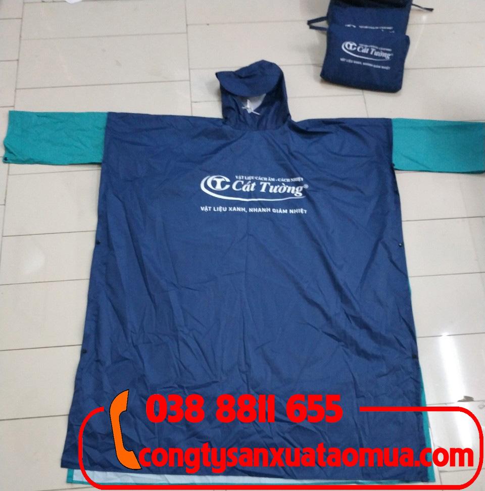 Áo mưa quà tặng công ty sản xuất vật liệu xây dựng